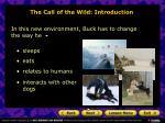 the call of the wild introduction7