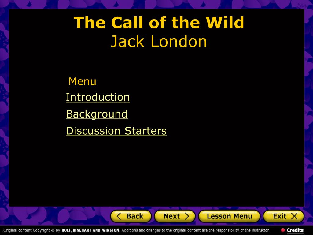 the call of the wild jack london l.