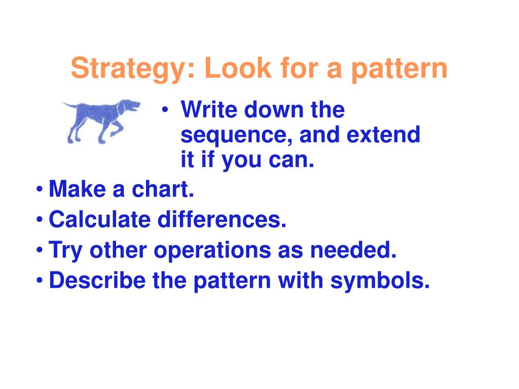 Strategy: Look for a pattern