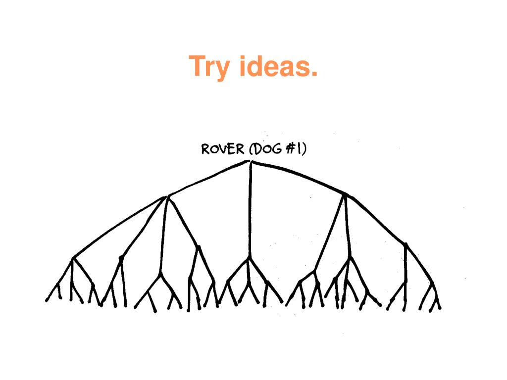 Try ideas.
