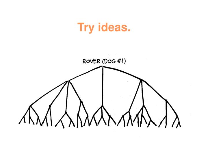 Try ideas