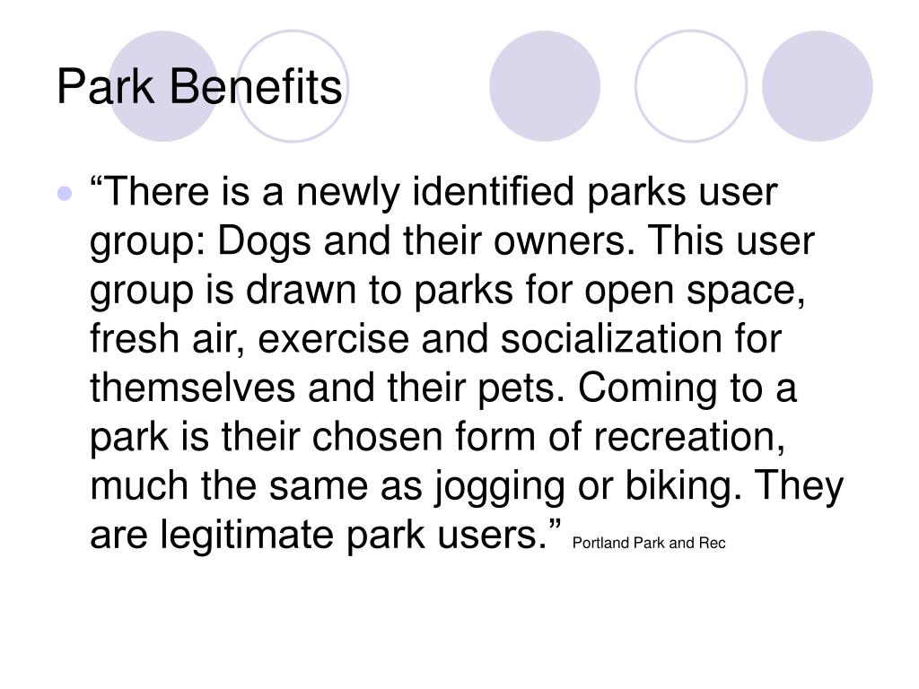 Park Benefits