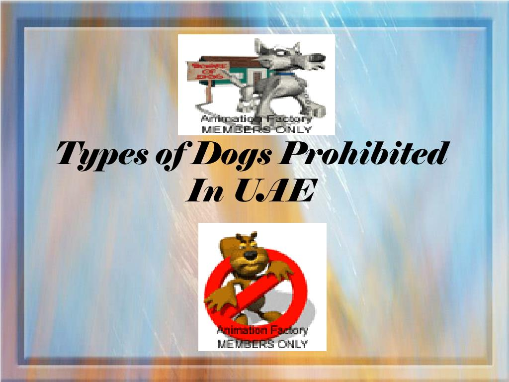 types of dogs prohibited in uae