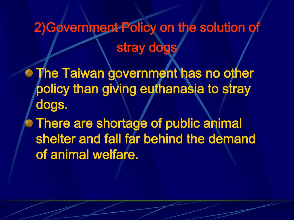 2)Government Policy on the solution of stray dogs