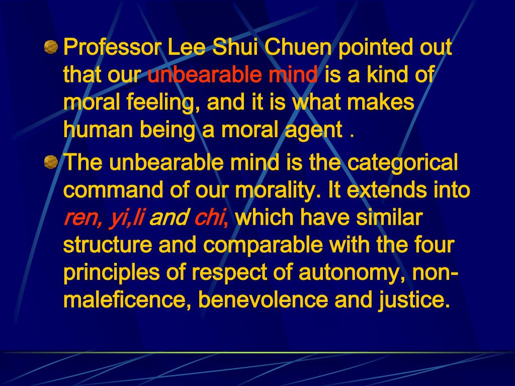 Professor Lee Shui Chuen pointed out that our