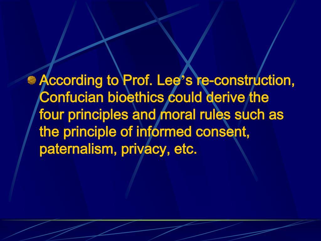 According to Prof. Lee