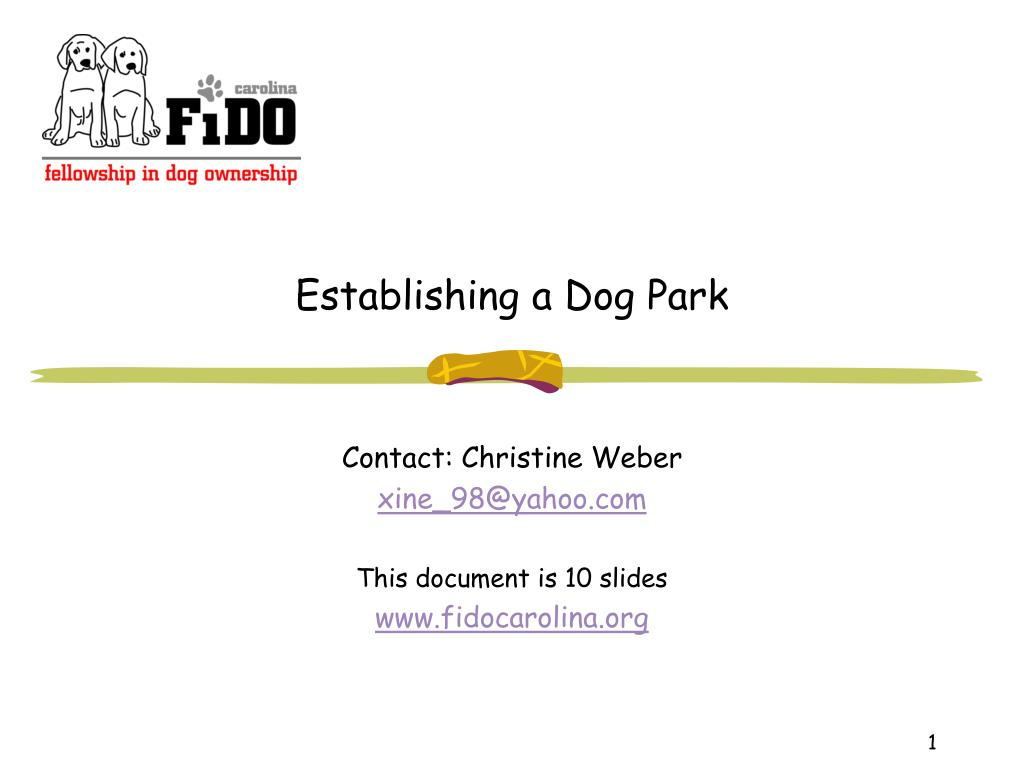 establishing a dog park l.