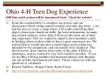 ohio 4 h teen dog experience