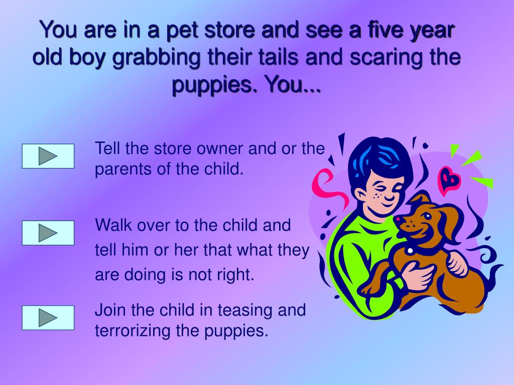 Tell the store owner and or the parents of the child.