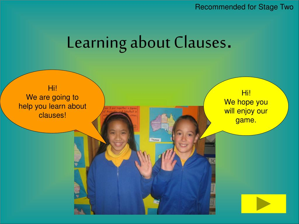learning about clauses