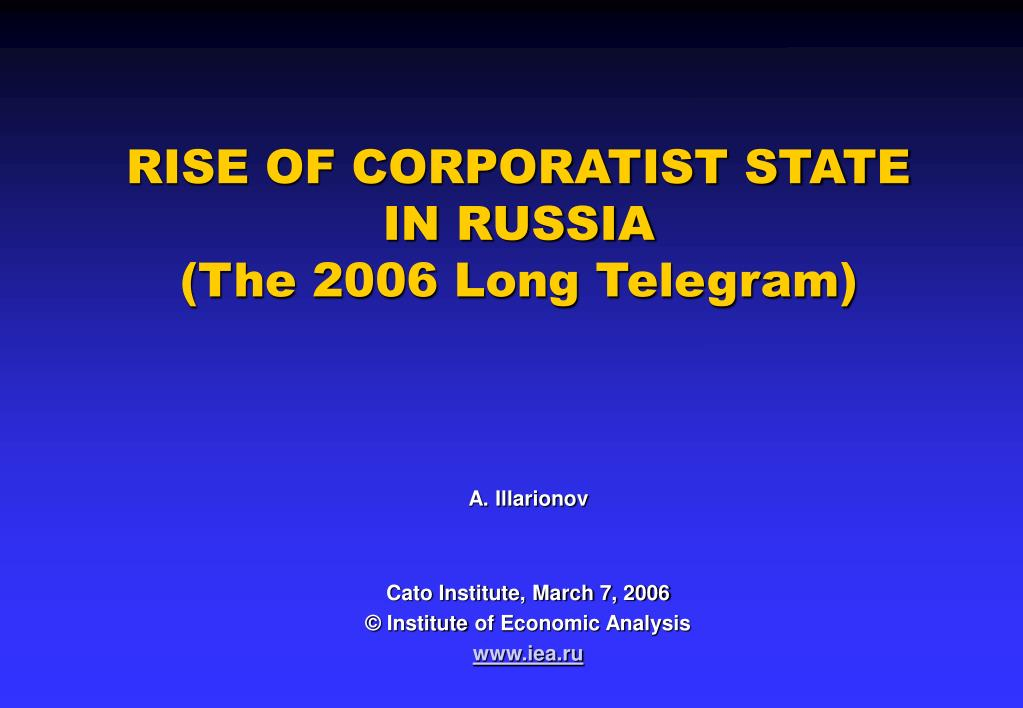 RISE OF CORPORATIST STATE