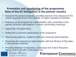 promotion and monitoring of the programme role of the ec delegation in the partner country8