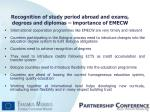 recognition of study period abroad and exams degrees and diplomas importance of emecw