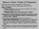 mancur olson power prosperity