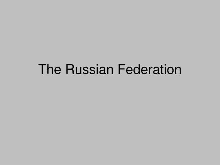 the russian federation n.