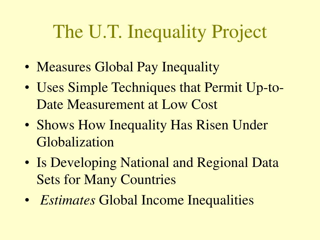 The U.T. Inequality Project