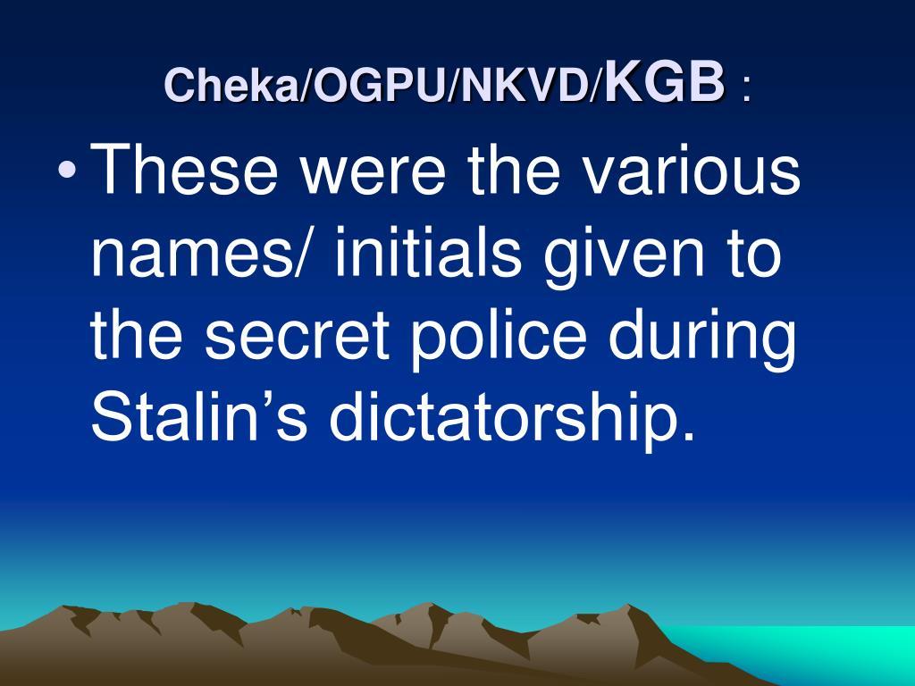 Cheka/OGPU/NKVD