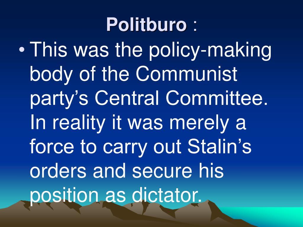 Politburo