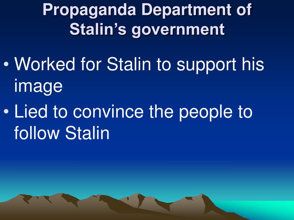 Propaganda Department of Stalin's government
