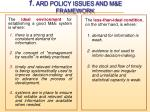 1 ard policy issues and m e framework2