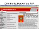 communist party of the r f