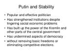 putin and stability