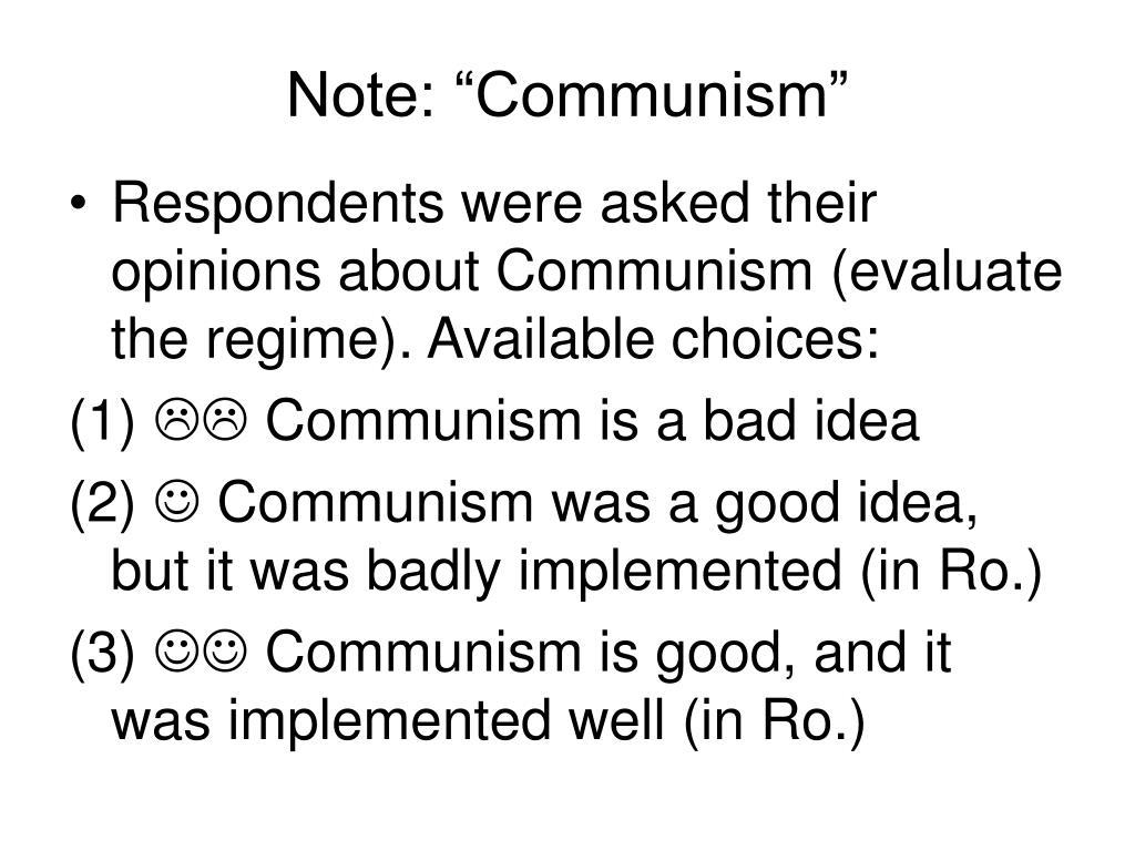 """Note: """"Communism"""""""