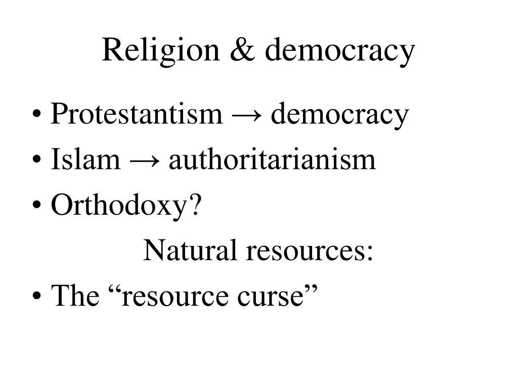 Religion & democracy