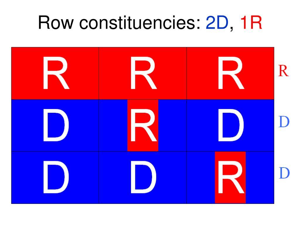 Row constituencies: