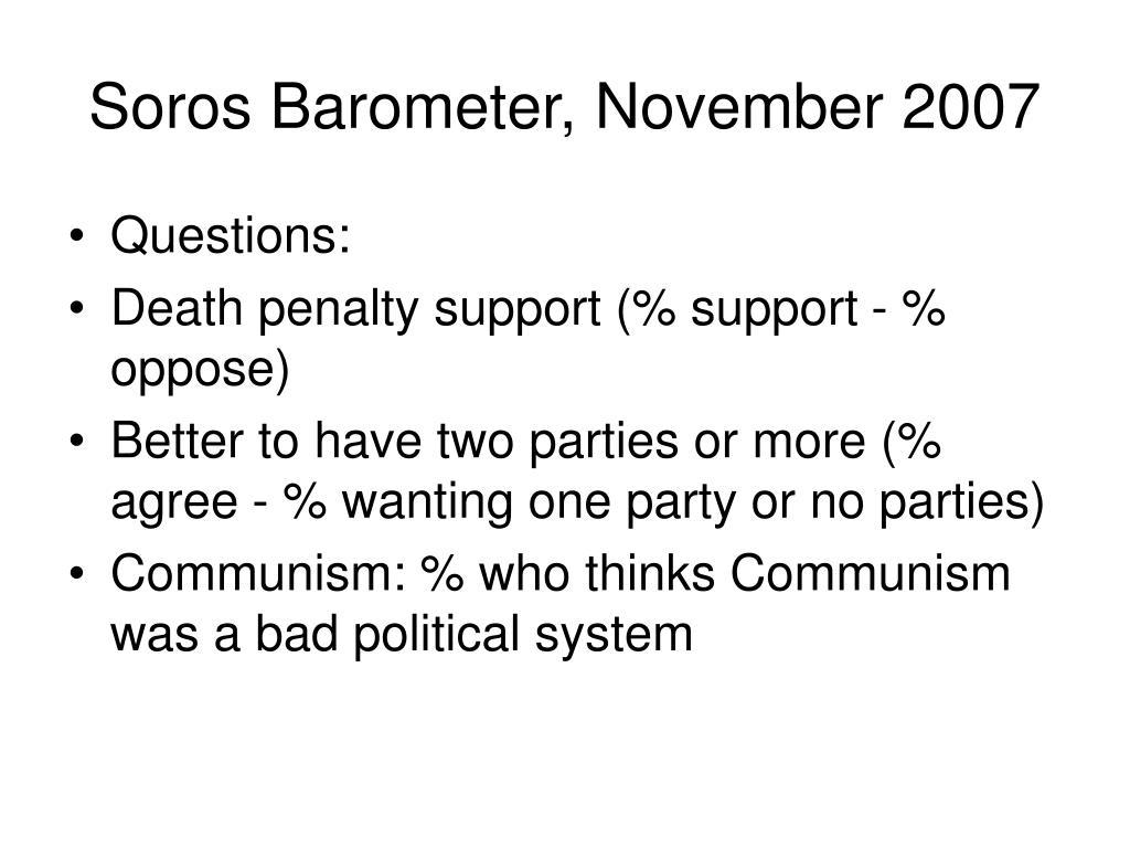 Soros Barometer, November 2007
