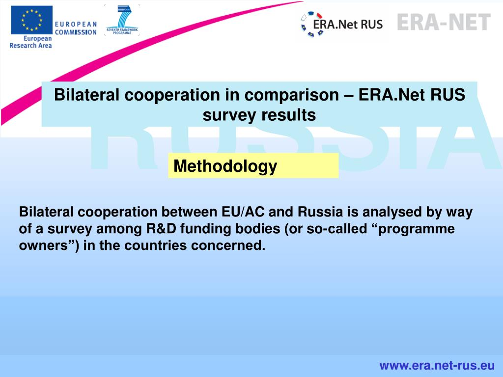 Bilateral cooperation in comparison – ERA.Net RUS survey results