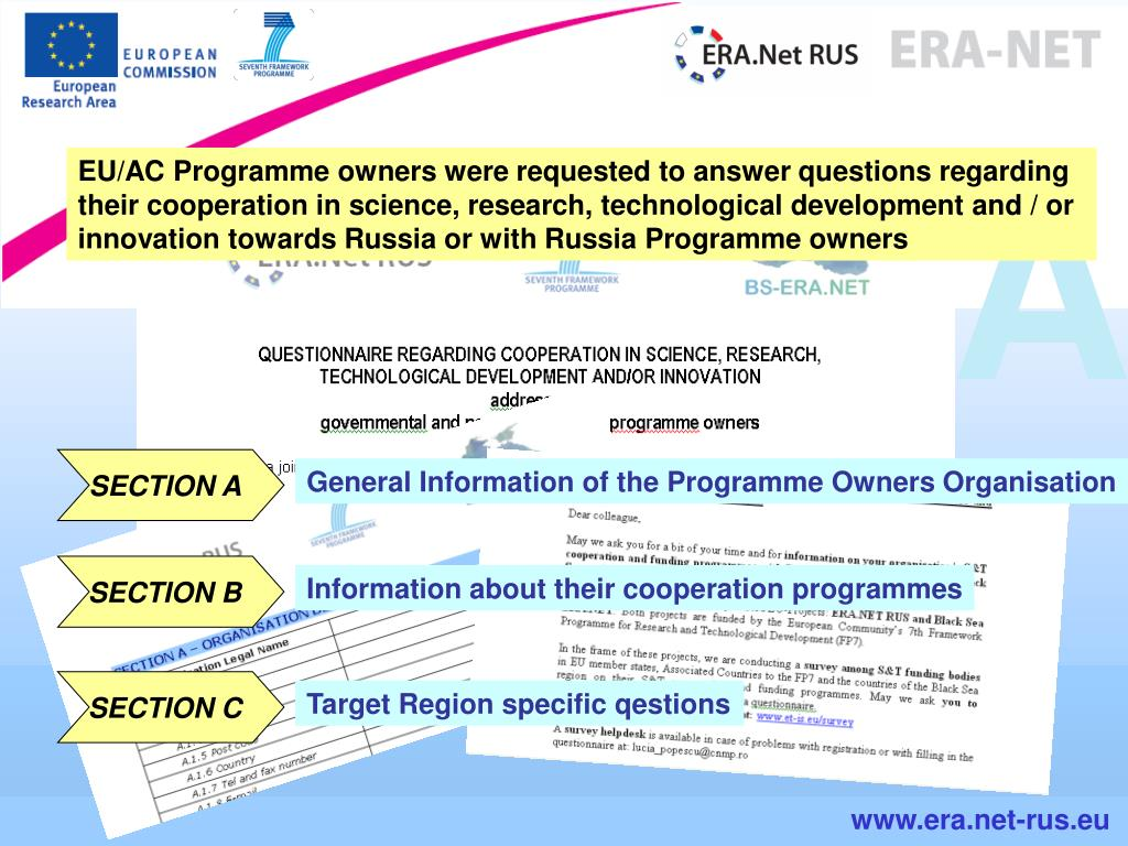 EU/AC Programme owners were requested to answer questions regarding