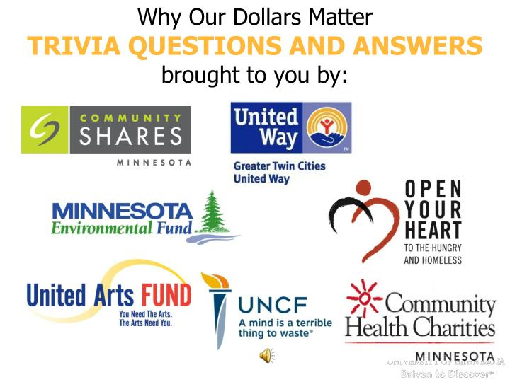 Why Our Dollars Matter