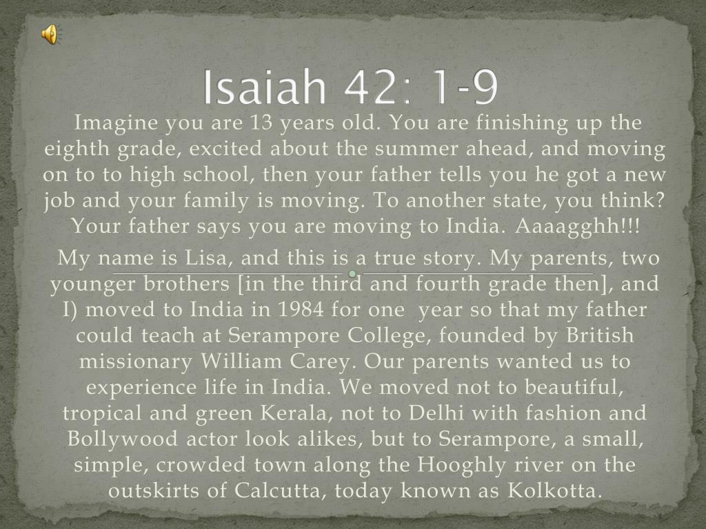 isaiah 42 1 9 l.