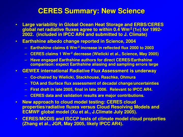 Ceres summary new science