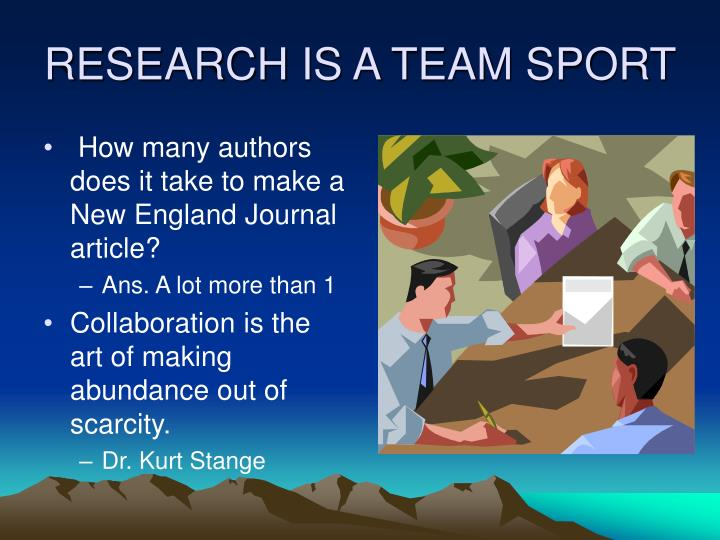 Research is a team sport