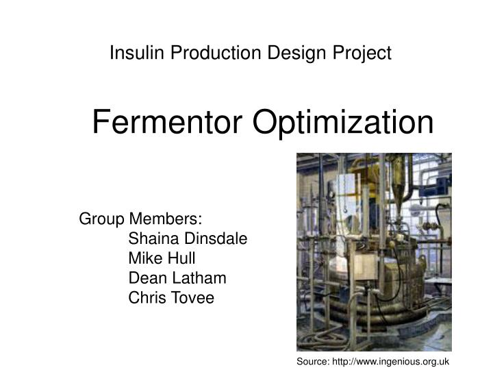 insulin production design project n.