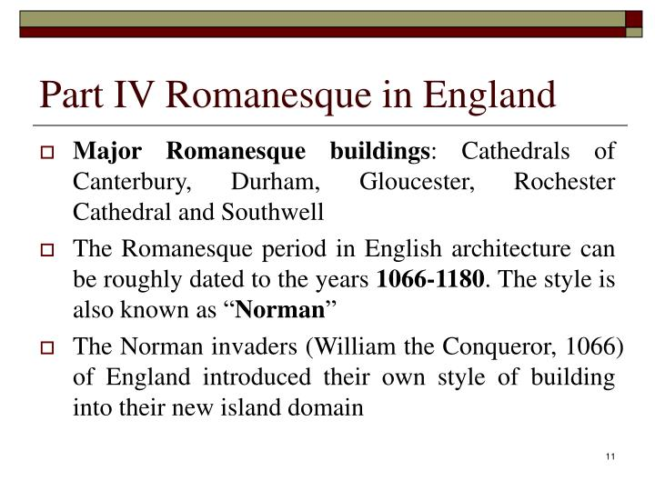 Part IV Romanesque in England