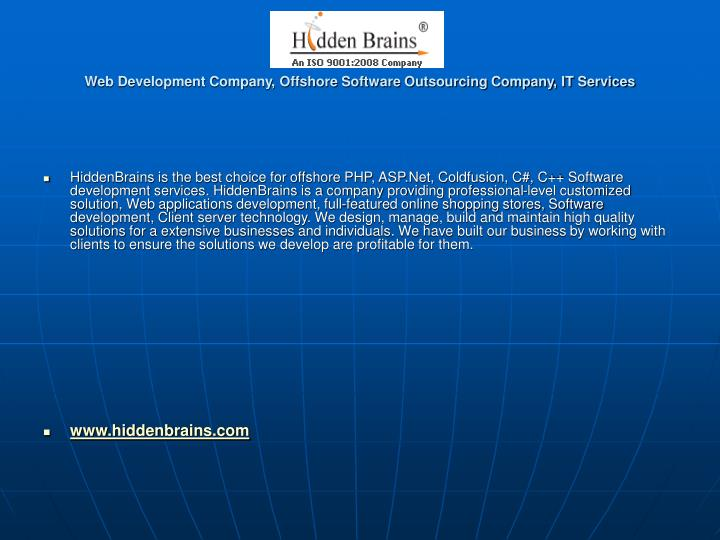 web development company offshore software outsourcing company it services n.