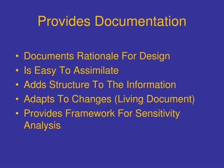Provides Documentation