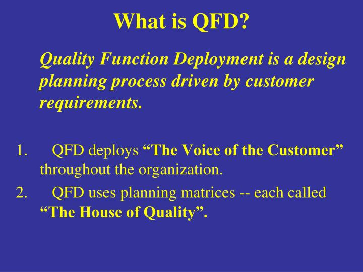 What is qfd