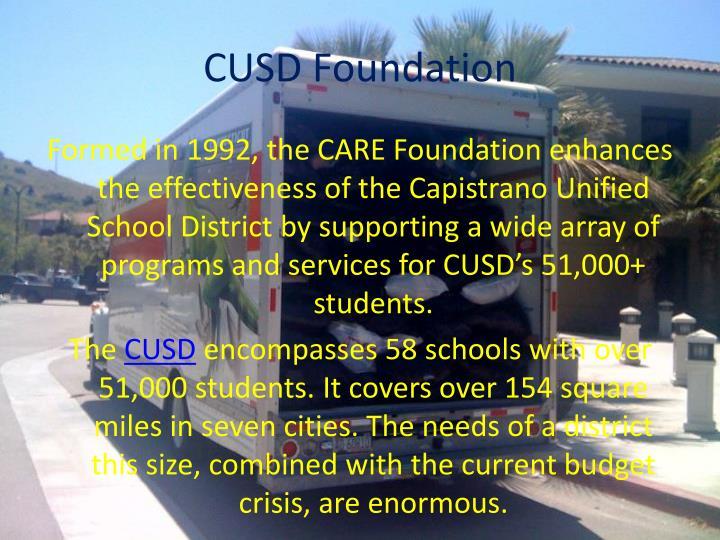 Cusd foundation