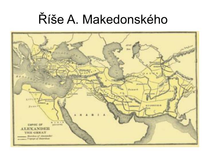 Říše A. Makedonského