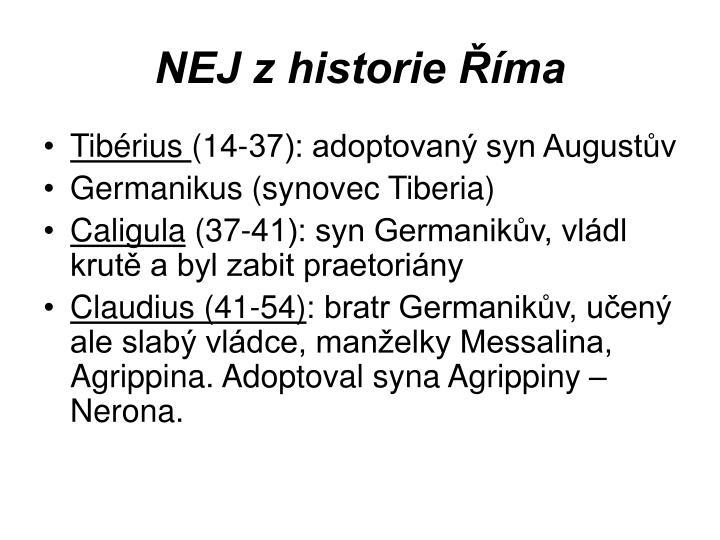 NEJ z historie Říma