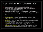 approaches to attack identification