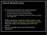 attack identification