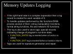 memory updates logging1
