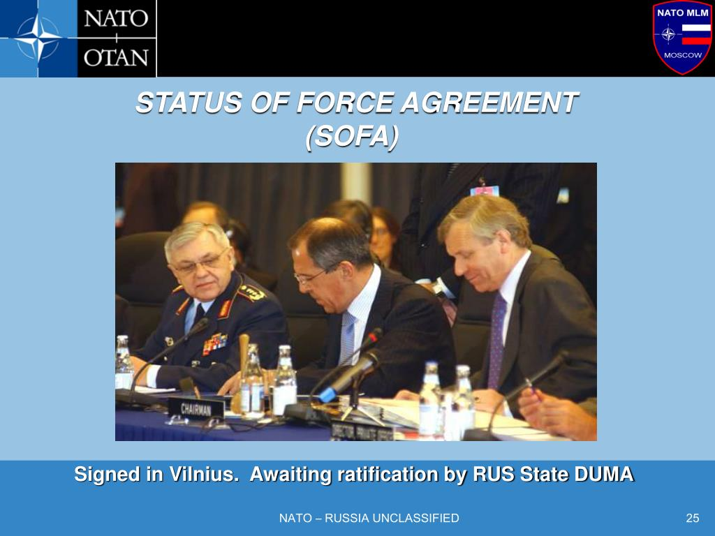 STATUS OF FORCE AGREEMENT