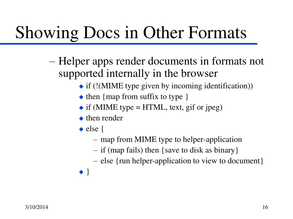 Showing Docs in Other Formats