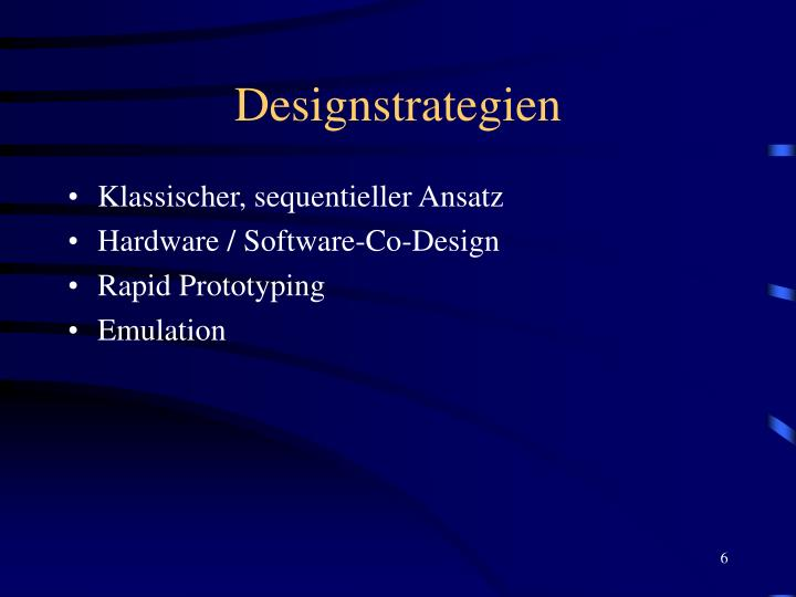 Designstrategien